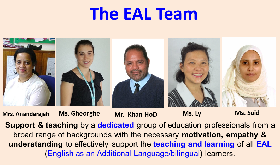 Plumstead Manor EAL Team