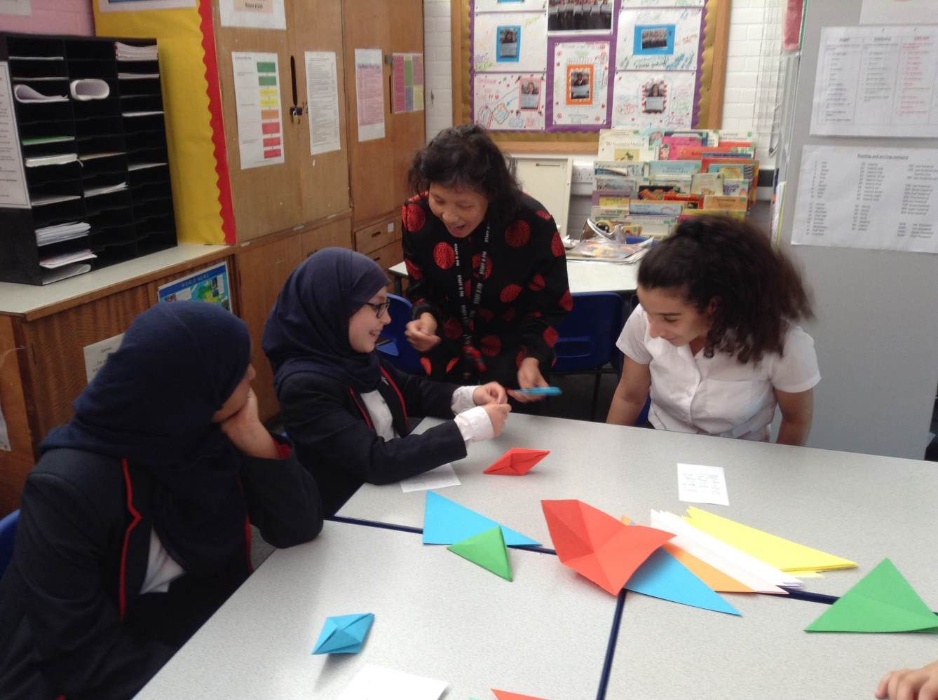 Polyglots Club Origami for Year 7 students