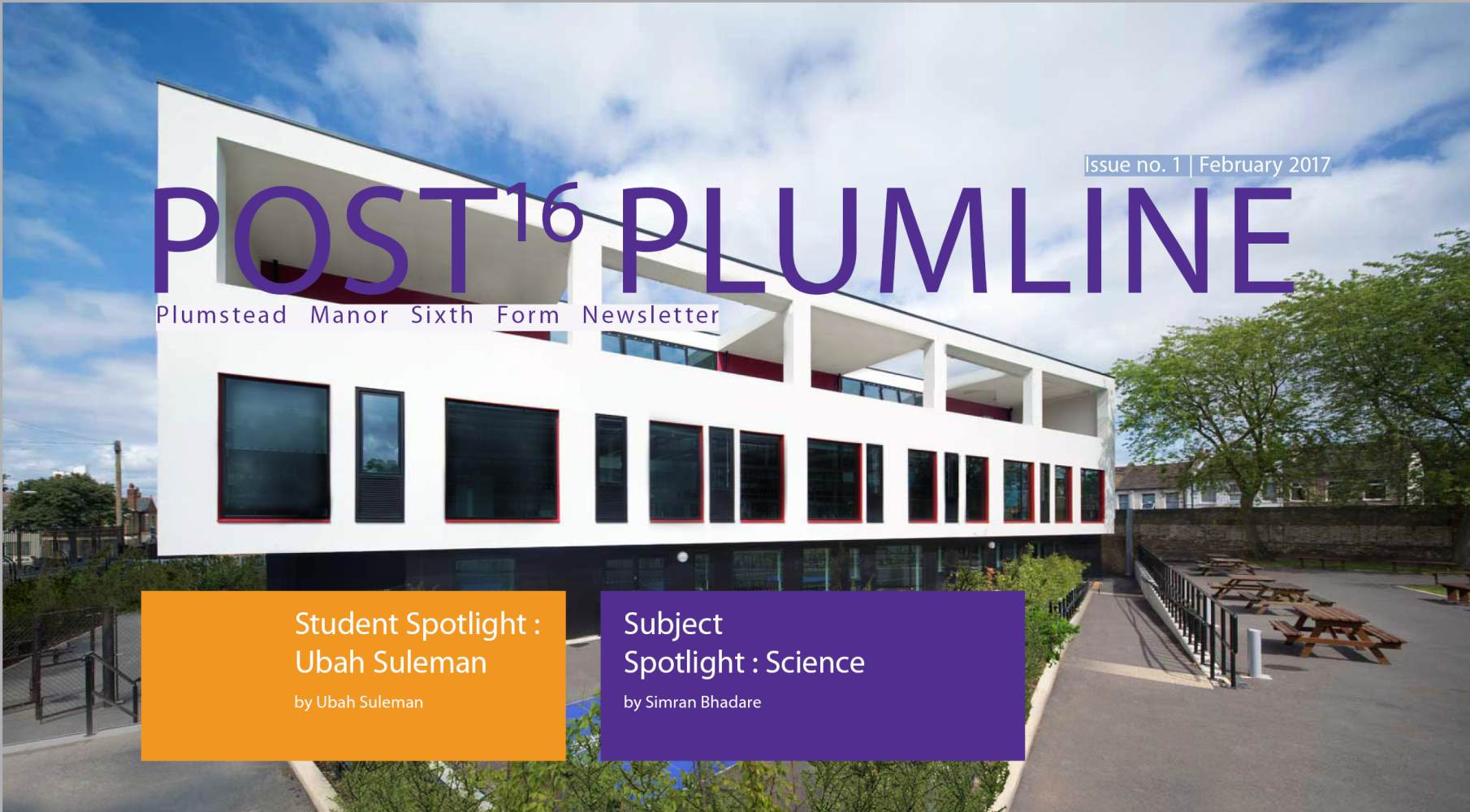 plumstead Manor Sixth Form Post16 Plumline header
