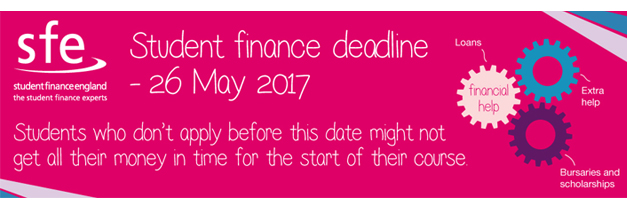 Student Finance 2017 deadline sticker
